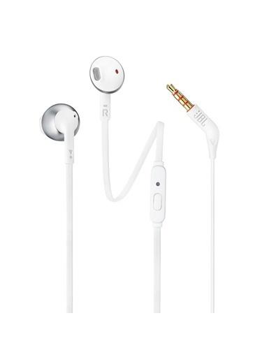JBL T205 Beyaz-Gümüş Kablolu Kulak İçi Kulaklık Renkli